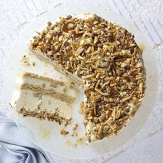 Nutty Caramel Ice Cream Cake Recipe from Taste of Home -- shared by Tina Stelzl, Waxhaw, North Carolina