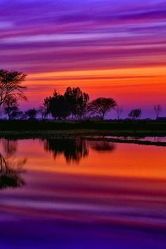 purple & orange hues with water reflection - gorgeous