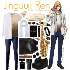 Jinguuji Ren [Uta no Prince-sama] by anggieputeri on Polyvore featuring Tommy Hilfiger, 3.1 Phillip Lim, John Hardy, Sekonda, sweet deluxe, Cosmic Thread, Jardin des Orangers, Dorothy Perkins, Bobbi Brown Cosmetics and NARS Cosmetics