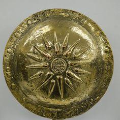 Bronze Shield, Great Alexander Verginas star 31,5 cm Diameter shield