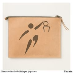 Illustrated Basketball Player Travel Pouch