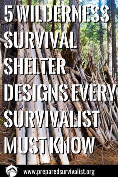 Shelter is one of the most important things you need to think about when you are in the wild. You need a place where you can be safe from the elements. There are a lot of options to build! But I will go through just 5 of them! Take note because this can be very handy in survival emergencies!