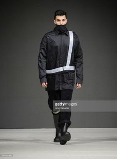 A model walks the runway wearing Tsung Yu Chan at Vancouver Fashion Week Fall/Winter 2017 at Chinese Cultural Centre of Greater Vancouver on March 2017 in Vancouver, Canada. Winter 2017, Fall Winter, Cultural Center, Walks, Vancouver, Centre, Runway, March, Chinese