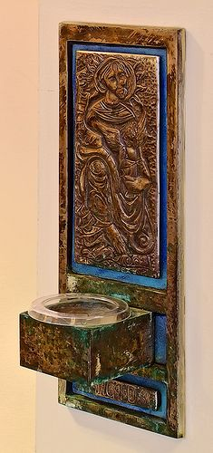 Mary's Chapel, Shrine of Our Lady of the Snows, in Belleville, Illinois, USA - holy water font