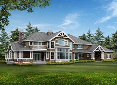 Master Down (or Up) Luxury Craftsman - 23300JD | 1st Floor Master Suite, CAD Available, Corner Lot, Craftsman, Den-Office-Library-Study, Jack & Jill Bath, Luxury, Media-Game-Home Theater, Northwest, PDF, Photo Gallery, Premium Collection, Wrap Around Porch | Architectural Designs