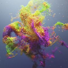 Joey Camacho, a graphic artist based in Vancouver set himself the task early last year of creating experimental rendered graphics using the programs Cinema Organic Art, Organic Shapes, Colossal Art, Montage Photo, Generative Art, 3d Artwork, Cg Art, 3d Prints, Tecno