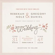 Lovely layout wedding stationery