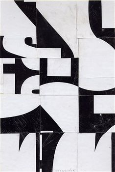 Suprematist Non-Objective Poetry FS2106CT05 by Cecil Touchon 9x6 inches collage on paper