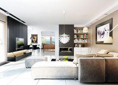 DOM.PL™ - Projekt domu AC Liv 3 G2 CE - DOM AF1-97 - gotowy koszt budowy Architecture Design, Education Architecture, Classic Architecture, Residential Architecture, Prefabricated Houses, Prefab Homes, Piscina Interior, Bungalow House Plans, Affordable Housing