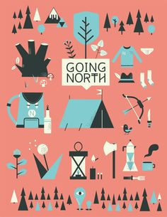 going north on Behance