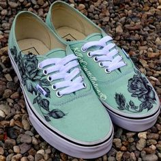 vans shoes mint