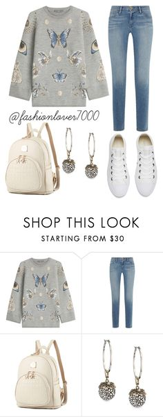 """Like a butterfly"" by madalenacaetano on Polyvore featuring moda, Alexander McQueen, Frame e Converse"