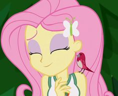 #1269063 - animated, bird, cropped, cute, equestria girls, fluttershy, legend of everfree, party soft, safe, screencap, shyabetes, spoiler:legend of everfree - Derpibooru - My Little Pony: Friendship is Magic Imageboard