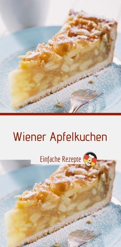 Wiener Apfelkuchen Effective pictures that we offer with recipes bake cakes . - Wiener Apfelkuchen Effective pictures that we offer with recipes bake cake A quality picture can te - Quick Dessert Recipes, Easy Cake Recipes, No Bake Desserts, Baking Recipes, Baking Desserts, Recipe For 4, Food Cakes, Tasty Dishes, No Bake Cake