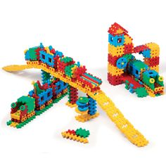 Marioinex 900949 Railway Station, 433 Pieces Packed in A Carton, Multi-Colour Sensory Toys For Kids, Having A Blast, Building Toys, Fine Motor Skills, Train Station, Different Shapes, Vibrant Colors, Waffles, Creative