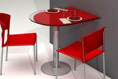 Mesa de cocina en rojo
