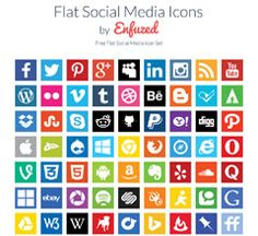 Looking for cool social media icons? Check out this collection with the best 44 sets of free social media icons. Get your free social media vector icons!
