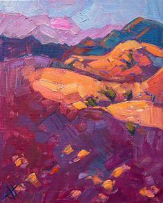 Sand Dunes original oil painting on board by modern impressionist Erin Hanson