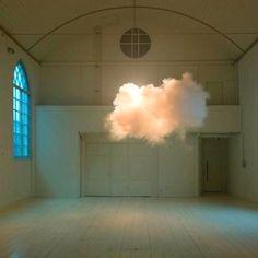 man made cloud art installation