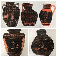 Греческие вазы в технике граттаж. #рисование #творчестводетей #сдетьми #мосва#вао#соколинаягора #ваза#граттаж #grattage #vase#kidsart
