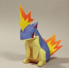 Pokemon - Quilava Ver.2 Free Papercraft Download - http://www.papercraftsquare.com/pokemon-quilava-ver-2-free-papercraft-download.html#Pokemon, #Quilava