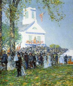 The Athenaeum - Country Fair, New England (Frederick Childe Hassam - )