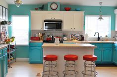 Turquoise Kitchen Color