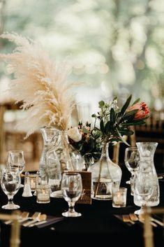 Cool Pampas Grass Wedding With Deep Berry Tones – wedding centerpieces Floral Wedding, Diy Wedding, Wedding Bouquets, Wedding Flowers, Dream Wedding, Perfect Wedding, Fall Wedding, Wedding Colors, Rustic Wedding