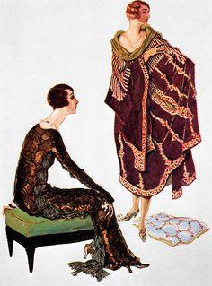 * Mode par Fortuny, 1924 illustration pour Vogue France