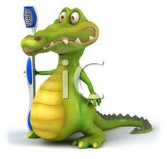 Funny Alligator Clip Art | Baby Cartoon Crocodile