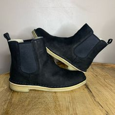 Clarks Shoes | Clarks Clarkdale Arlo Chelsea Black Suede Boots 7 | Poshmark Bootie Boots, Ankle Boots, Witch Shoes, Black Suede Boots, Clarks, Chelsea Boots, Footwear, Booty, Stylish