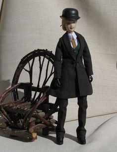 "Saddle seat rider; Breyer 8"" doll dressed by Glyn Haven Studios."
