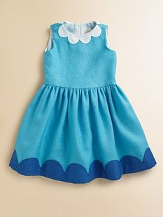 Lotusgrace Toddler's & Little Girl's Scalloped Colorblock Dress