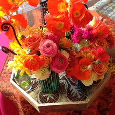 Moroccan party flowers