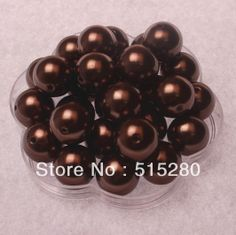 20mm Brown Acrylic Pearls Chunky Beads 120pcs/lot A46