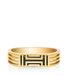 TORY BURCH FOR FITBIT METAL HINGED BRACELET - SHINY GOLD
