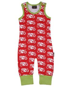Maxomorra Playsuit, Motorcycles Red