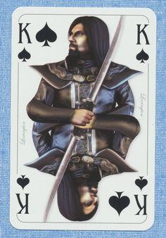 Two Worlds II promo playing card single swap king of spades - 1 card King Of Spades, Second World, Playing Cards, Batman, Statue, Superhero, Movie Posters, Movies, Ebay