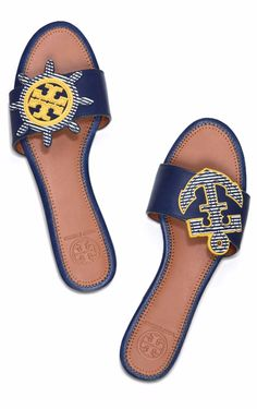 Tory Burch Maritime Mismatched Slide