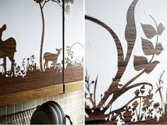 A Hand-Carved Kitchen Cabinet Design... From Contact Paper! | Kitchn
