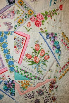 hankies quilt - Could be really cute if someones grandma had a big collection