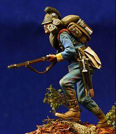 Bavarian Infantry, Franco Prussian War, 1870, 54mm figure by Bill Horan
