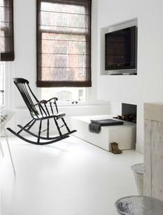 I am in love with white on white. I want my future room to have white floors!!