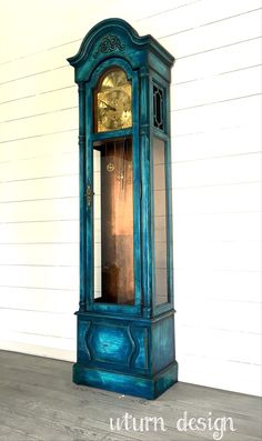 Painted grandfather clock By uturn design