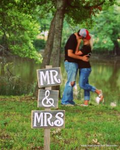 Save the Date Mr & Mrs Signs Engagement Photo Prop Eco Wedding Decor. Country Wedding Decorations Just Married Sign Photo Props Sign