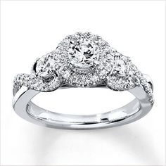 Kay Jewelers Diamond Engagement Ring 7/8 CT TW Round-Cut 14K White Gold ($2,140)