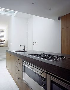 cast concrete kitchen worktop Kitchen Worktop, Kitchen Cabinets, Rose Arbor, Concrete Kitchen, Work Tops, Furniture Making, Interior And Exterior, It Cast, Home Decor