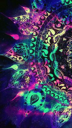 Grunge mandala galaxy iPhone/Android wallpaper I created for the app CocoPPa!