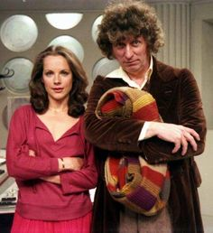 Rare photo of Mary Tamm and Tom Baker from 1978
