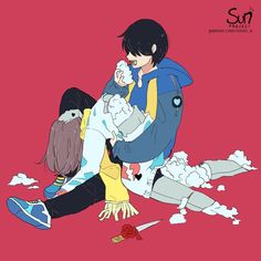 Mimi N are creating SUN Project - Fanart - Critique Sad Anime, Anime Life, Anime Art, Dark Art Illustrations, Illustration Art, Sun Projects, Sad Drawings, Arte Obscura, Deep Art